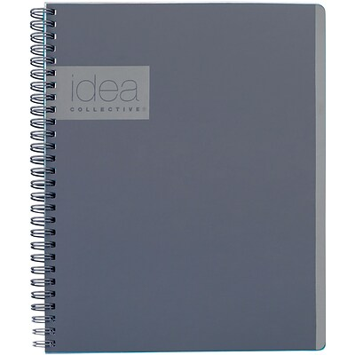 Idea Collective® Professional Notebook, 9 1/2 x 6 5/8, Gray (57013IC)