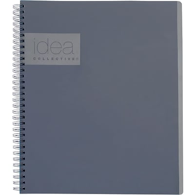 Idea Collective® Professional Notebook, 11 x 8 1/4, Gray (57016IC)