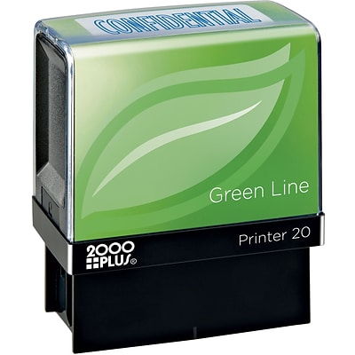 2000 PLUS® Green Line Self-inking Stamp, CONFIDENTIAL