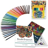 Adult Coloring Book Set with 2 Books and 48...