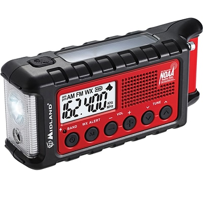 E+ Ready Emergency Dynamo Crank Radio with AM/FM Weather Alert with 2600mAH battery with PDQ