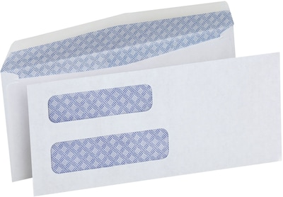 "Quill Brand® Standard #8 Double Window Security Business Envelope; 3-5/8 x 8-5/8"", 500/Box"