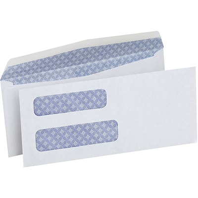 Quill Brand® Standard #8 Double Window Security Business Envelope; 3-5/8 x 8-5/8, 500/Box