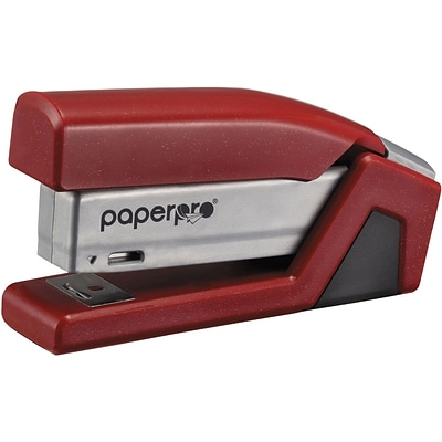 PaperPro® Compact Desktop Stapler; Small, Red