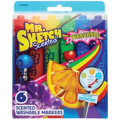 Sanford® Mr. Sketch Chisel Point Scented Washable Marker, Assorted, 6/Pack (1924009)