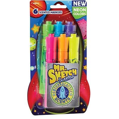 Sanford® Mr. Sketch Chisel Tip Scented Watercolor Marker, Assorted Intergalactic (1938416)