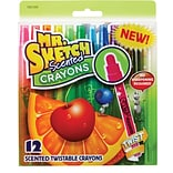 Mr. Sketch Scented Twistable Crayons, 12/Pack (1951200)