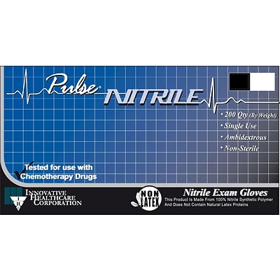 Innovative Pulse Nitrile Exam Gloves; XS, 10 BX/CS, 200/BX