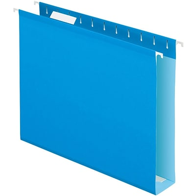 Quill Brand® Box Bottom Hanging File Folders; Letter Size, 2 Expansion, Blue
