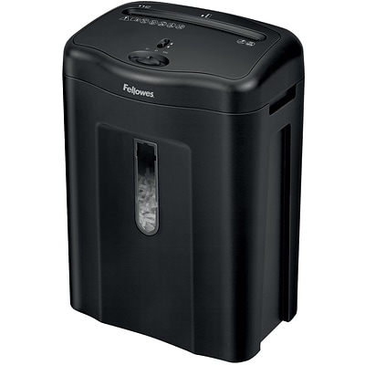 Fellowes® 11C Crosscut Shredder, Black