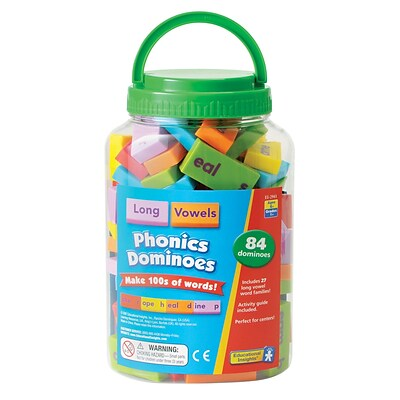Educational Insights® Phonics Dominoes,  Long Vowels