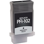 Quill Brand Remanufactured Canon PFI-102BK Black Ink Cartridge (0895B001) (100% Satisfaction Guarant