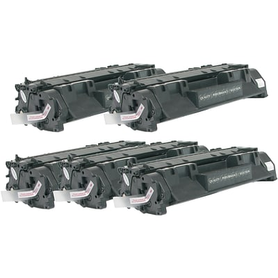 Quill Brand Remanufactured HP 05A (CE505A) Black Laser Toner Cartridge (5 cart per pack) (100% Satisfaction Guaranteed)