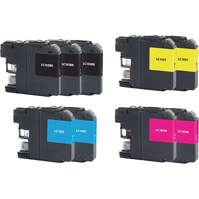 Quill Brand® Remanufactured Brother LC103 Multi color High Yield  Cartridge 9/Pack (Lifetime Warranty)