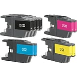 Quill Brand®  Brother LC71/LC75 Remanufactured B/C/M/Y Inkjet Cartridge, High Yield, 10/Pack (LC75)