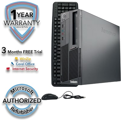 Lenovo ThinkCentre M90P Small Form Factor Refurbished Desktop Computer, Intel Core i5 650 3.2G, 4GB RAM, 250GB HDD