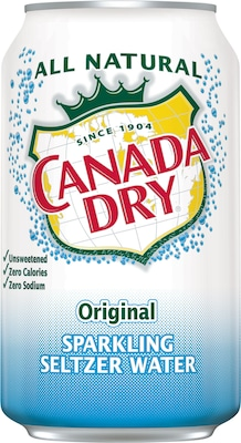 Canada Dry® Original Sparkling Seltzer Water, 12 oz. Cans, 24/Pack (78000147162)
