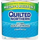 Quilted Northern Ultra Soft & Strong® Toilet Paper, 12 Mega Rolls, Bath Tissue