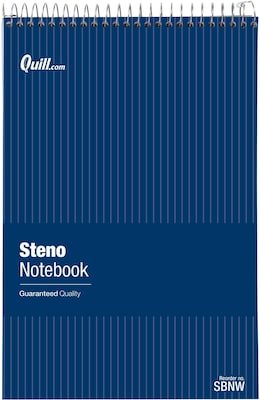 "Quill Brand® Steno Pads 6""x9""; White, Gregg Ruled, 12 Pack"