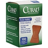 Curad® Flex-Fabric™ Adhesive Fingertip Bandages; Natural, 2Lx1-1/2W