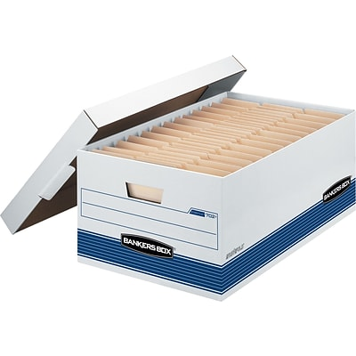 Bankers Box® Stor/File™ Medium-Duty FastFold® Storage Boxes with Lift-Off Lid, Legal, 12/Ct (00702)