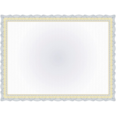 Great Papers! 11 x 8.5 Twisty Graph Navy Foil Certificate, 15 count (2013295)