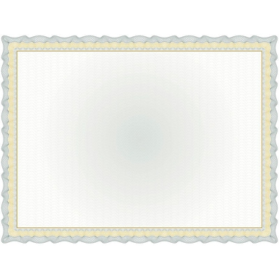 Great Papers! 11 x 8.5 Twisty Graph Green Foil Certificate, 15 count (2013306)