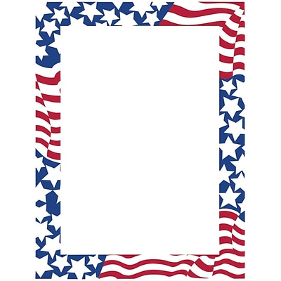 Great Papers! Stars & Stripes Letterhead 8.5 x 11 80 count (2014300)
