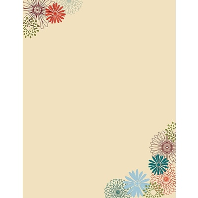 Great Papers! Fall Mums Letterhead   8.5 x 11  80 count (2015087)