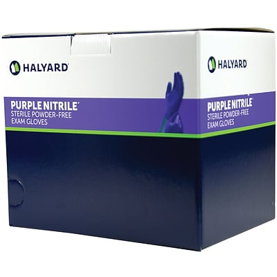 Halyard (formerly Kimberly-Clark) Sterile Purple Nitrile Gloves; Small