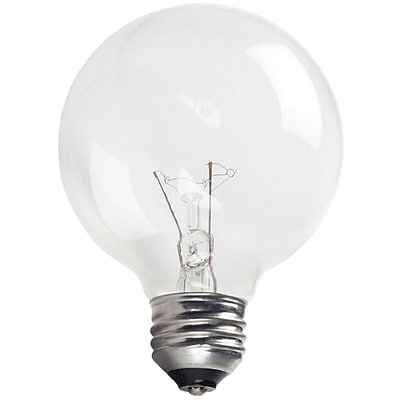 Philips Incandescent Clear G25 Globe Lamp, 25 Watts, 12PK