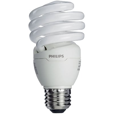 Philips Compact Fluorescent Twister Light Bulb, 23 Watts, Cool White, 6PK