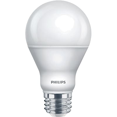 Philips LED A19 Lamp, 9W, Bright White, 6PK