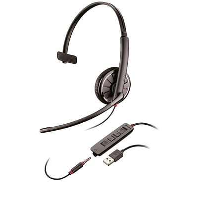 Plantronics  Blackwire C315 Over-the-Head Mono Headset with Microphone, Black