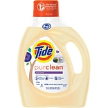Tide Purclean Liquid Laundry Detergent for Regular and HE Washers, Honey Lavender Scent, 75 oz., 48