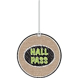 Burlap Scribble Hall Pass