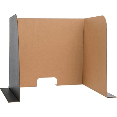 Computer Lab Privacy Screen, Small, 22 x 20 x 20, 3-Pack