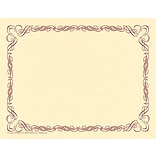 Arabesque Border Paper, Plum