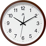 Infinity Instruments 14 Wall Clock, Walnut Finish Clock