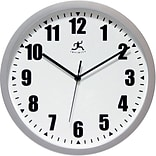 Infinity Instruments 12 Wall Clock, Silver Office Clock