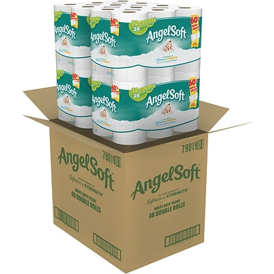 Angel Soft® Toilet Paper, 48 Double Rolls, Bath Tissue