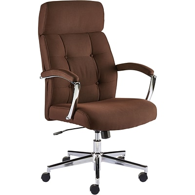 Quill Brand Townsen Fabric Home Office Chair Brown