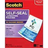 Scotch™ Self-Seal Laminating Pouches, Letter Size, 25 Pouches (LS854-25G-WM)