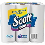 Scott® 1000 Bath Tissue; 27 Pack, 1 Ply