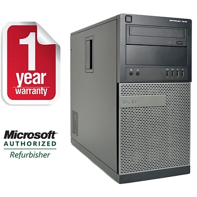 Dell Optiplex 7010 Tower/Core i5-3570 3.4GHz/8GB RAM/2TB HDD/DVDRW Drive/Win10P64