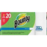 Bounty® Select-A-Size™ Paper Towel Rolls, White, 2-Ply, 158 Sheets/Roll, 8 Huge Rolls = 20 Regular R