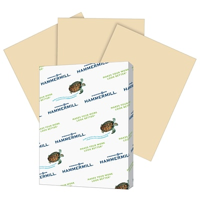 Hammermill Fore MP Colors Multipurpose Paper, 20 lbs., 8.5 x 11, Tan, 500/Ream (102863)