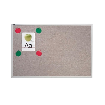 Quartet® Vinyl Bulletin Board; 48x48,  Gray