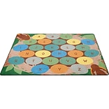 Robins Eggs Alphabet Seating Rug; 6x9, Rectangle
