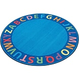 A-Z Circle Time Seating Rug; 6, Round